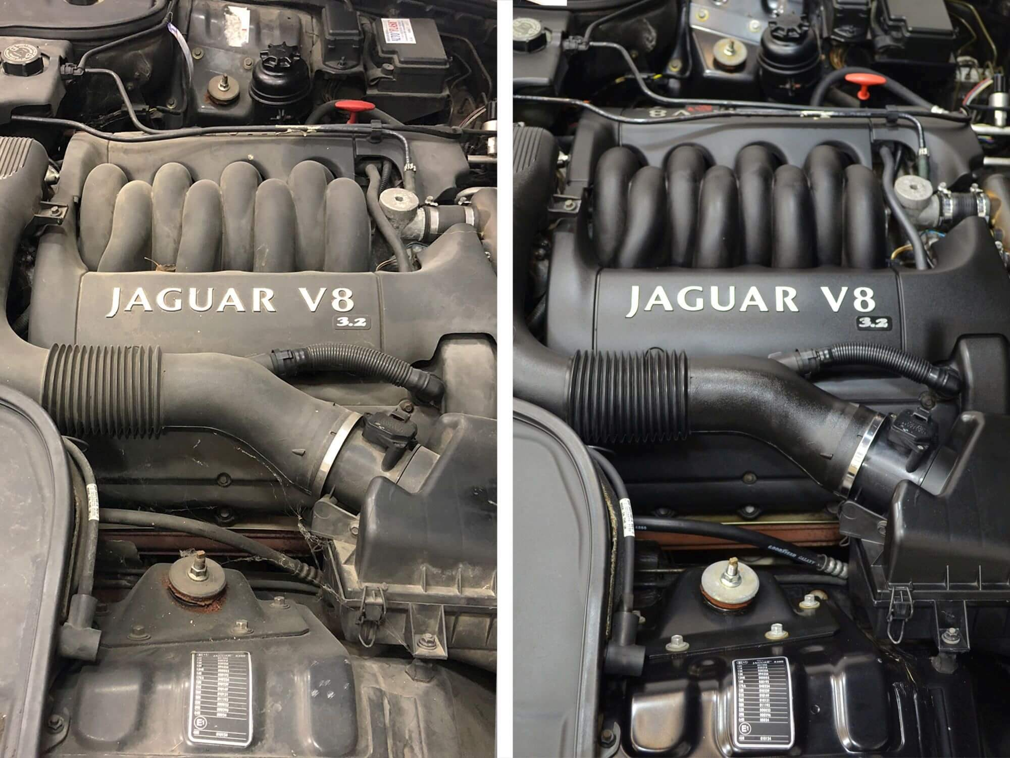 DK gallery photo 13 engine bay detailing before / after